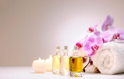 Bottles of essential oil 2019